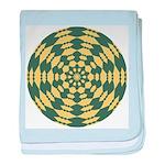 Green Pattern 001 baby blanket