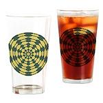 Green Pattern 001 Drinking Glass