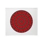 Red Pattern 003 Throw Blanket
