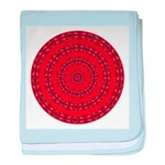 Red Pattern 003 baby blanket