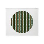Green Pattern 002 Throw Blanket