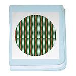 Green Pattern 002 baby blanket