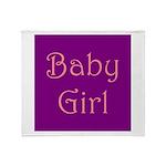 Baby Girl's Room Throw Blanket
