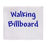 Walking Billboard Throw Blanket