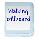 Walking Billboard baby blanket