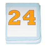 Twenty-four Orange/Blue baby blanket