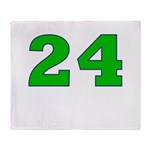 Twenty-four Green/Blue Throw Blanket
