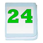 Twenty-four Green/Blue baby blanket