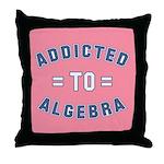 Addicted to Algebra Throw Pillow