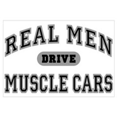 Real Men Drive Muscle Cars III Canvas Art
