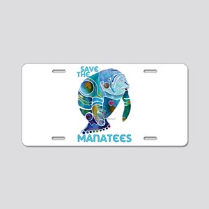 Save the Manatees Aluminum License Plate