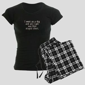Stupid Chert Field Tech Humor Women's Dark Pajamas