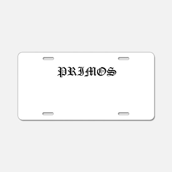Primos Aluminum License Plate