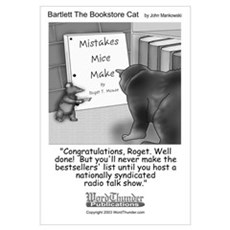 Bartlett The Bookstore Cat Framed Print