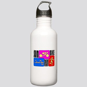 TRI Triathlon COLORS Stainless Water Bottle 1.0L