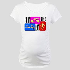 TRI Triathlon COLORS Maternity T-Shirt