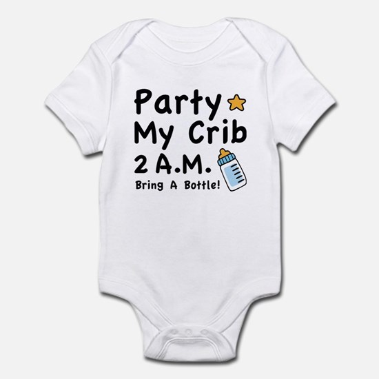 Party My Crib Body Suit