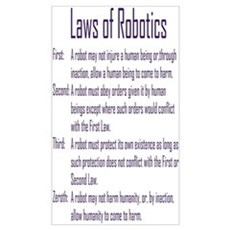Asimov's Robot Series Laws of Robotics Poster