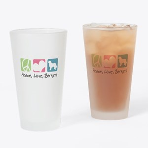 Peace, Love, Berners Drinking Glass
