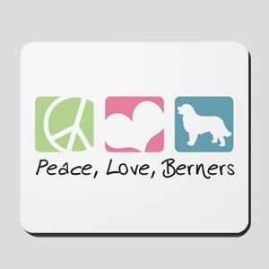 Peace, Love, Berners Mousepad