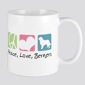 Peace, Love, Berners Mug