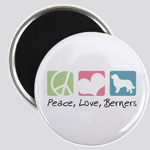 Peace, Love, Berners Magnet