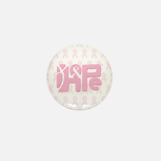 Think Hope (LtPink/White) Mini Button