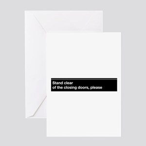 Mta stationery cafepress stationery nyc subway stand clear of th greeting card m4hsunfo