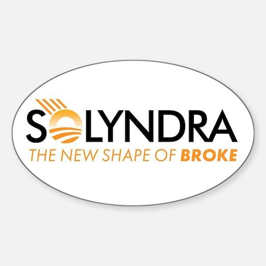 solyndra-broke Sticker (Oval)