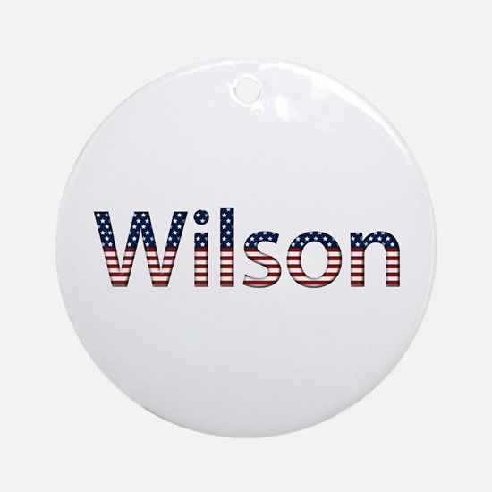 Wilson Stars and Stripes Round Ornament