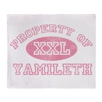 Property of Yamileth Throw Blanket