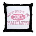 Property of Yamileth Throw Pillow