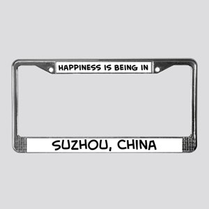 Happiness is Suzhou License Plate Frame