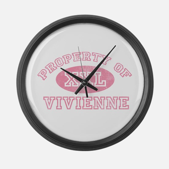Property of Vivienne Large Wall Clock