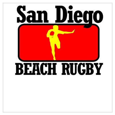 San Diego Beach Rugby Poster