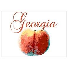 Georgia Peach Poster