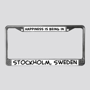 Happiness is Stockholm License Plate Frame