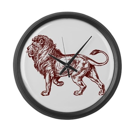 Lion Art Illustration Large Wall Clock