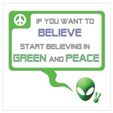 Aliens for Peace 3 - Believe Poster