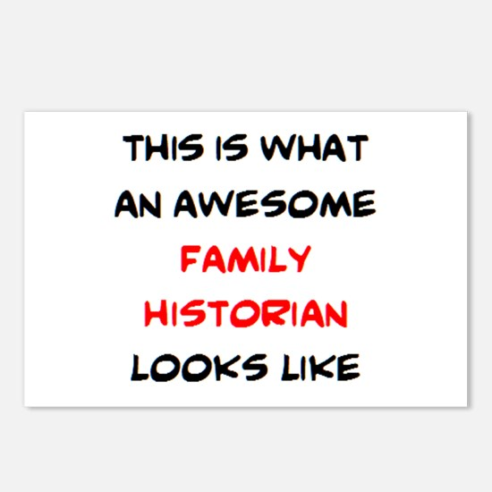 awesome family historian Postcards (Package of 8)