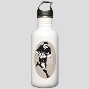 rugby player black Stainless Water Bottle 1.0L