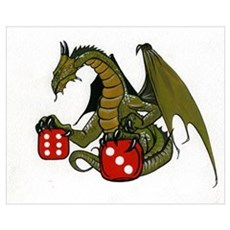 Dice and Dragons Framed Print