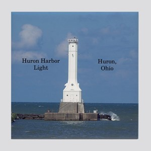 Huron Harbor Light Tile Coaster