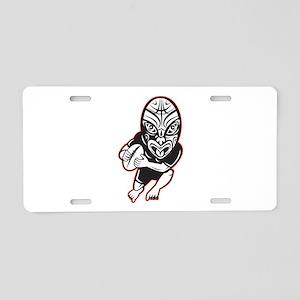 Maori Rugby player Aluminum License Plate