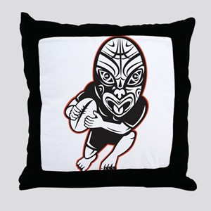 Maori Rugby player Throw Pillow