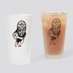 Maori Rugby player Drinking Glass