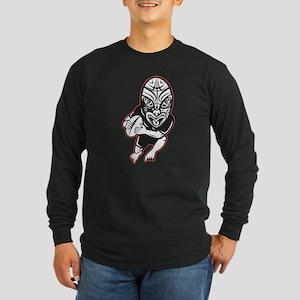 Maori Rugby player Long Sleeve Dark T-Shirt