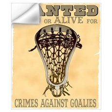 Lacrosse Wanted II Wall Decal
