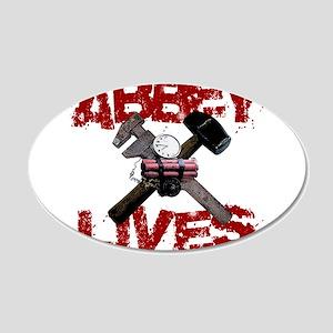 Abbey Lives! 22x14 Oval Wall Peel