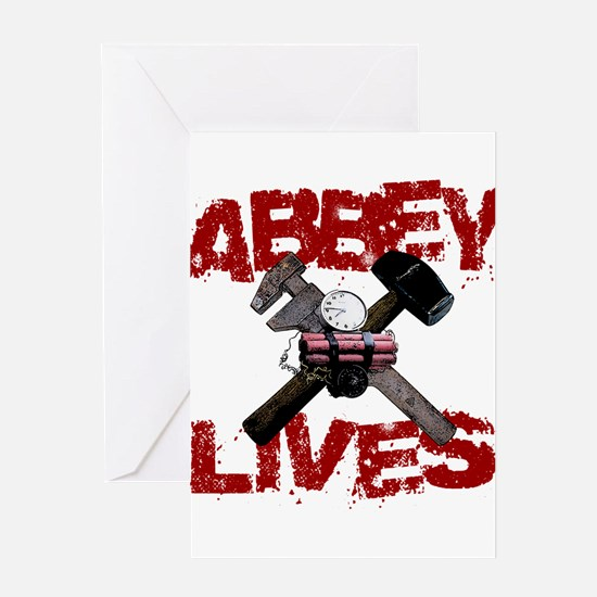 Abbey Lives! Greeting Card